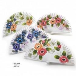 Abanicos flores surtido 108