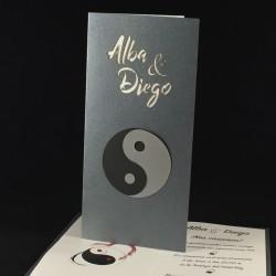 Invitación boda yin & yang...