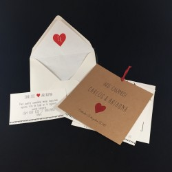 Invitación boda tarjeta...