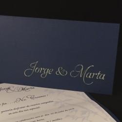 Invitación boda troquelada...