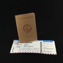 Invitación boda pasaporte...
