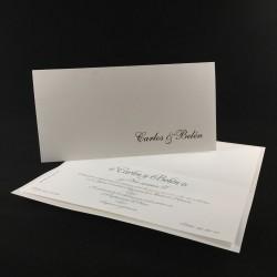 Invitación boda Oro 1807 B