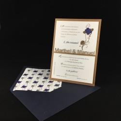Invitación boda Rosa Azul...