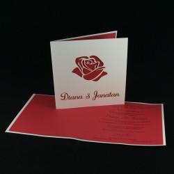 Invitación boda rosa laser...