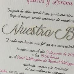 Invitacion de boda acuarela