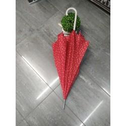 Paraguas largo rojo beig 423