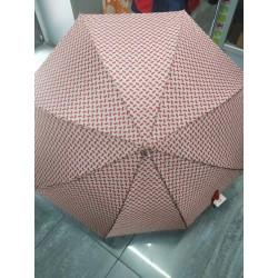 Paraguas largo beig y rojo 423