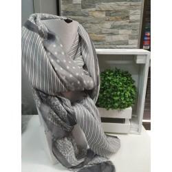 Pañuelo fular gris YF5187